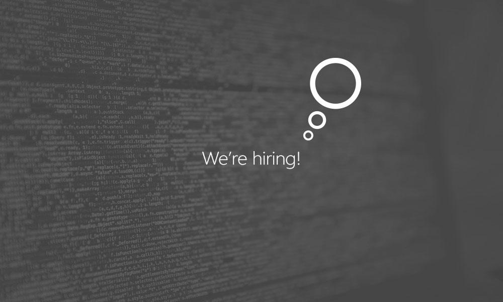 We are hiring: front end developer