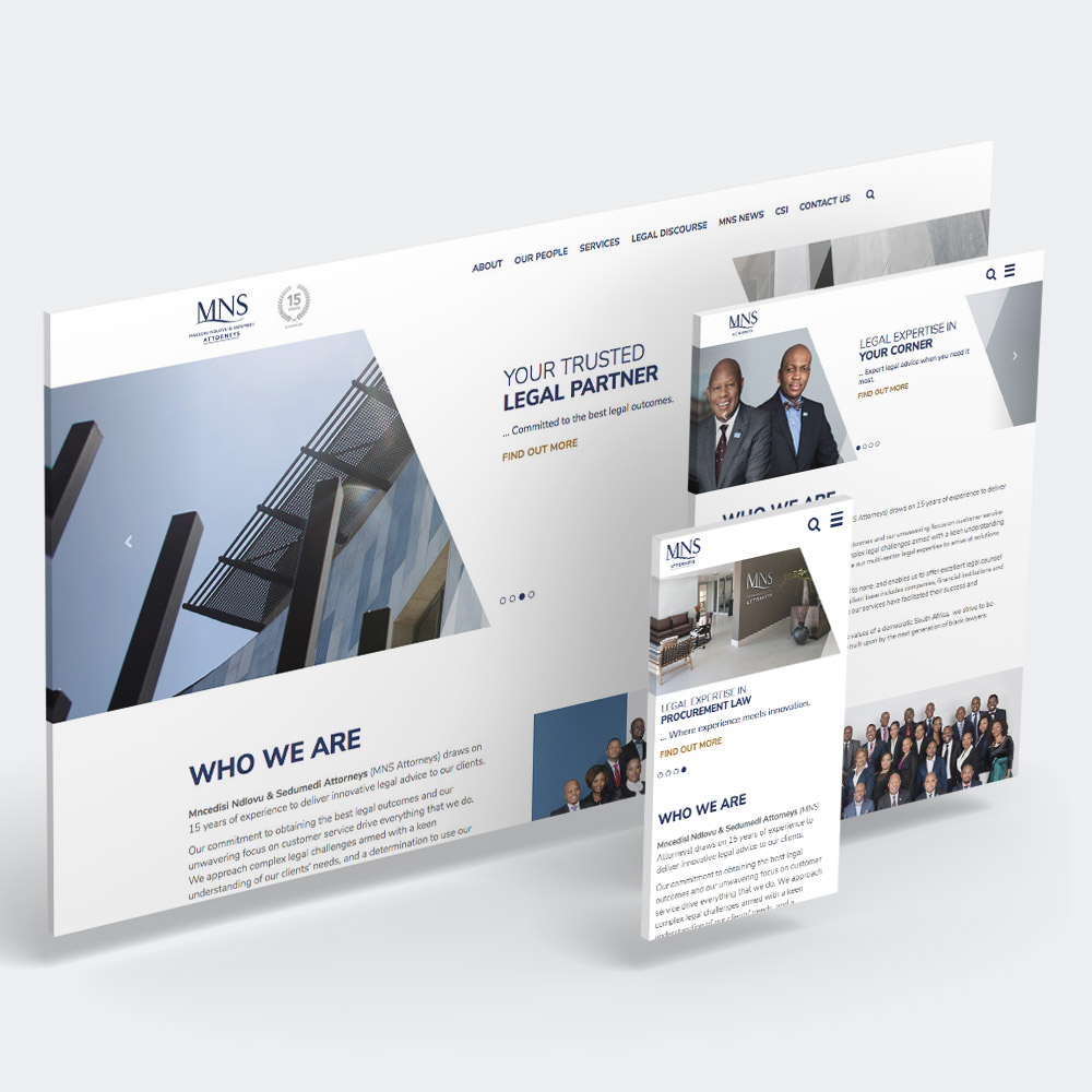 MNS Responsive Website design Screens